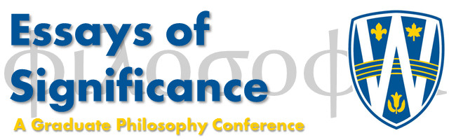 Essays of Significance Graduate Conference Proceedings