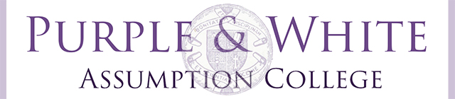Assumption College Purple & White
