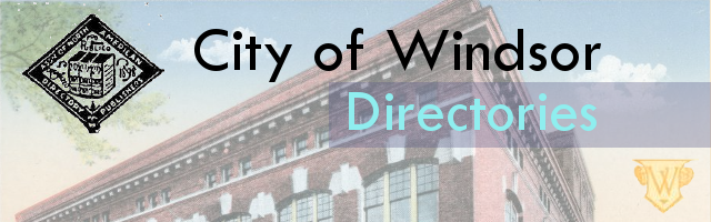 City of Windsor Directories