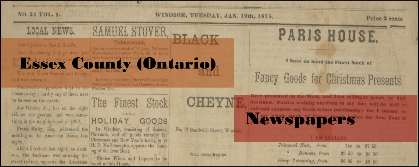 Essex County (Ontario) Newspapers