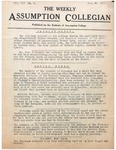 The Weekly Assumption Collegian: Vol. 3 No. 9 1922
