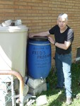Barrel for Rainwater Donated by Fred's Produce