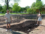 Planting of Keyhole Garden