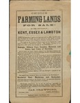 Choice Farming Lands For Sale In The Counties Of Kent, Essex, And Lambton, 1869