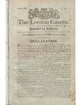 Declaration War of 1812 London Gazette