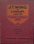 J. T. Wing and Company Limited, General Catalogue No. 38, 1938