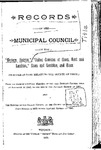 Records of the Municipal Council of the Western District 1842-1890 by County Council of Essex and Western District Municipal Council