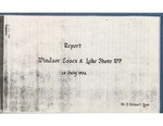 Windsor, Essex, And Lake Shore Railway: Report, 25 July 1934 by T. Stewart Lyon