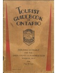 Tourist Guidebook of Ontario 1930 by J. D. McAlpine