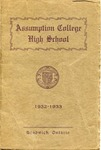 Assumption College High School 1932-1933