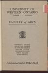 University of Western Ontario. Faculty of Arts. Announcement 1942-1947