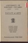 University of Western Ontario. Faculty of Arts. Announcement 1942-1947 by University of Western Ontario (London, Ontario)